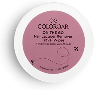 Colorbar On the Go Nail Lacquer Remover Wipes, Rainbow Bouquet, 30 Pieces