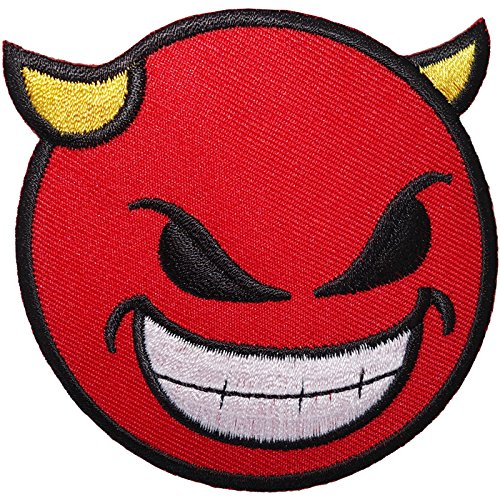 Parche bordado con cara sonriente para planchar o coser en camiseta, abrigo, gorro, insignia