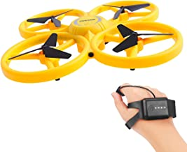 XINHOME Hand Operated Drone for Kids Adults, Gravity Sensor Hand Control Drone Watch RC Quadcopter with Infrared Obstacle Avoidance, 3D Flips LED Mini Aircraft Drone for Kids, Boys Girls Gift Toys