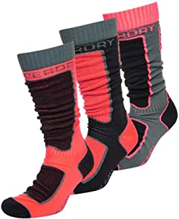 Snow Triple Pack Calcetines Mujer Black/Carbon/Hyper Coral