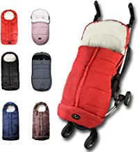 CozyMe Universal Winter Stroller Footmuff,Waterproof Toddler Travel Gear Sleeping Bag, Anti-Slip,Length Extendable,Multifunction Use Bunting Bag for 6-36M,Red