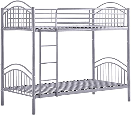 Belifeglory 2 In 1 Metal Bunk Bed Convertible 2 X 3 Ft Single Twin Over Twin