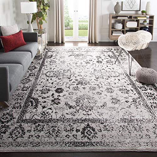 Safavieh Adirondack Collection ADR109B Grey and Black Oriental Vintage Distressed Area Rug (6' x 9')