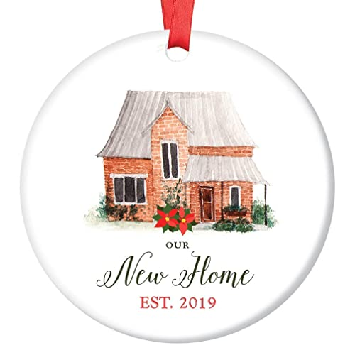 First Christmas In Our New Home 2019.New Home Christmas Ornament 2019 Modern Farmhouse Decorative
