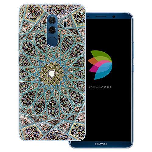 dessana Mosaik durchsichtige Schutzhülle Handy Hülle Cover Tasche für Huawei Mate 10 Pro Ornament