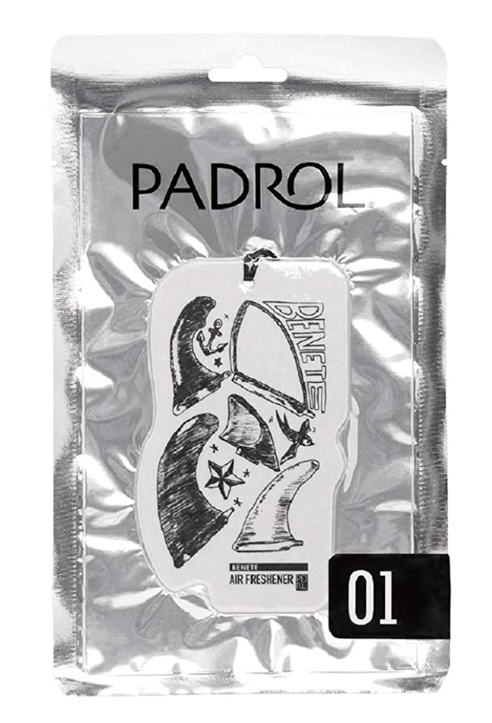 抑圧者ジョグ知覚するノルコーポレーション ルームフレグランス エアーフレッシュナー パドロール 吊り下げ BENETE PAD-5-01 ホワイトムスクの香り 1枚