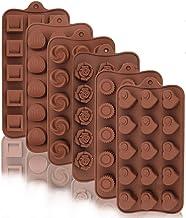 قالب شوكولاتة سيليكون من ليميوسو، 6 عبوات 15 تجويف سيليكون حلوى الخبز العفن قابلة لإعادة الاستخدام لوازم صنع الحلوى للشوكو...