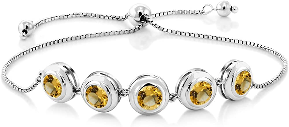 Gem Stone King Choice 925 Sterling Silver Adjustable Ten New sales Citrine Yellow