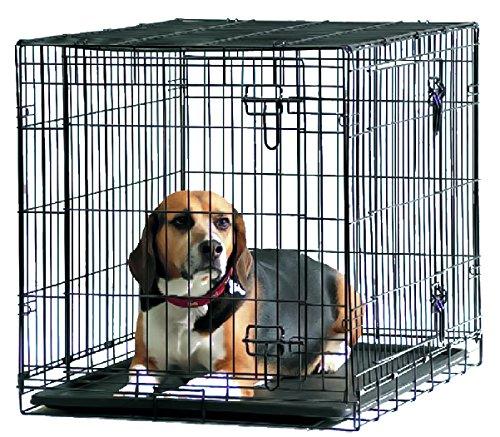 Savic - Cottage - Cage de transport pour chien - Noir poudré - 76 x 49 x 55 cm