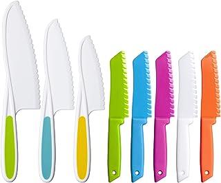 MAZYPO Ensemble de 8 Couteaux de Cuisine en Plastique Couteau en Nylon/Couteau à Fruits Pour Enfants, Couteau à Laitue ou ...