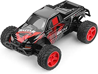 Stunt Remote Control Car, Off-Road Rock Car, Mountaineering Truck, Long-Distance Wireless Control Rechargeable, Great Boy and Girl Toys (Color : Red)