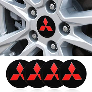 4 x Matt Black Tyre Valve Dust Caps Fits MITSUBISHI