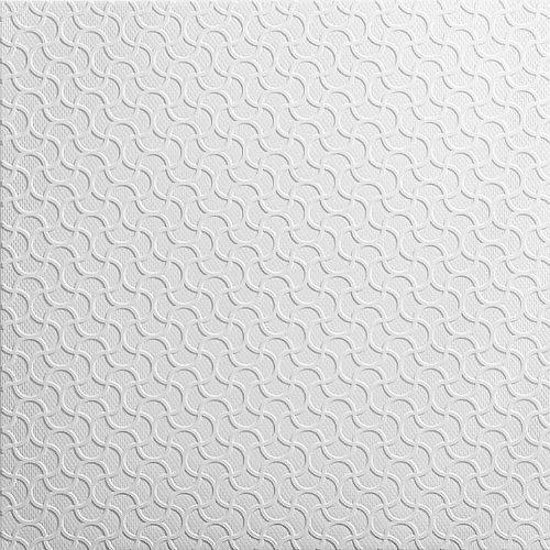 Topceilingtiles Pannelli Soffitto in Polistirolo Laminato Rumba Bianco (Pacco 88 pz / 22 mq)