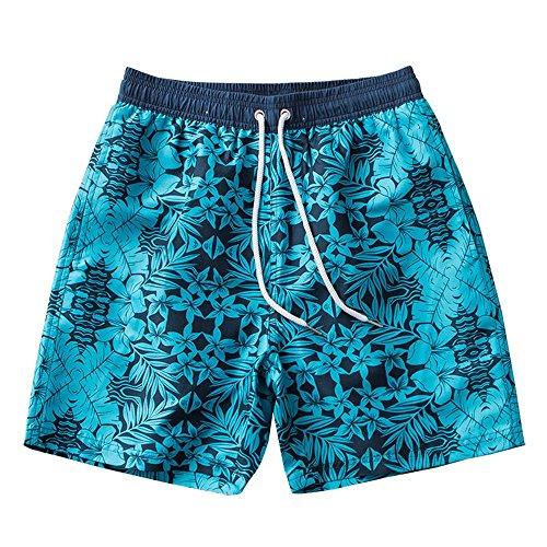 Strandshorts voor heren, waterdicht, sneldrogend, grote maat zwemmen, stam voor planten, trendy druk, vijf korte sluiting, geschikt voor op reis