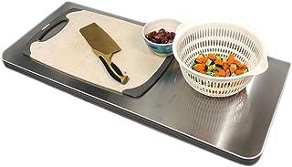GHHZZQ Table Pliante Murale Acier Inoxydable Console Murale Bureau Pliant Économie D'espace pour Cuisine/Chambre/Salle À M...