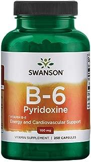 Swanson Vitamin B-6 (Pyridoxine) 100 Milligrams 250 Capsules