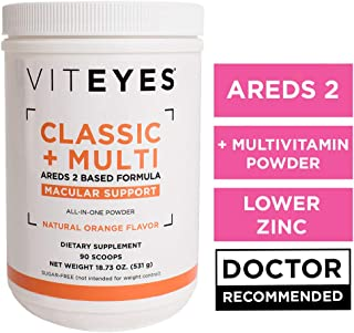 VITEYES AREDS 2 Powder Formula, Promotes Eye Health and Protects Vision, 90 Servings - Single Daily Dose Eye Vitamin