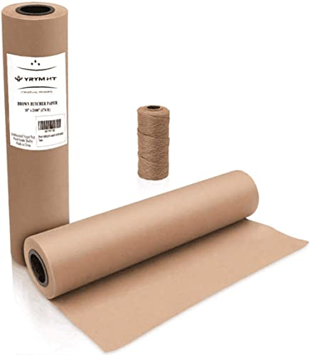 Brown Kraft Butcher Paper Roll - Natural Food Grade Brown Wrapping Paper for BBQ Briskets,Smoking & Wrapping Meats,18...