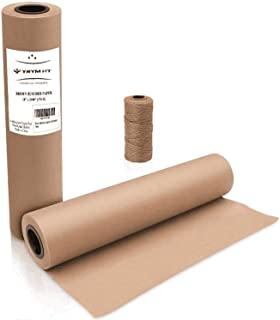 "Brown Kraft Butcher Paper Roll - Natural Food Grade Brown Wrapping Paper for BBQ Briskets,Smoking & Wrapping Meats,18"" x 2100"" (176 ft) - Unbleached Unwaxed and Uncoated"