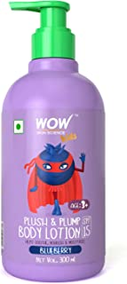 WOW Skin Science Kids Plush & Plump Body Lotion - Blueberry - SPF 15 - No Parabens, Mineral Oil, Silicones & Color, 300 ml