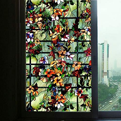 Rsots Fensterfolie Glasfolie 3D Fensterfolien Amerikanische Fenster Papier Glas Film Blackout Fenster Aufkleber Schlafzimmer Glas Aufkleber Badezimmer Badezimmer Transparent Undurchsichtig 60X200Cm