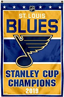 Thinkfly St.Louis Blues 2019 Stanley Cup Champions Flag Banner Man Cave