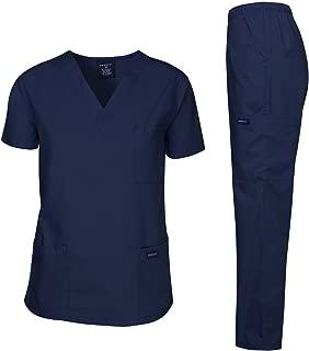 Dagacci Scrubs Medical Uniform Men Scrubs Set Medical Scrubs Top and Pants