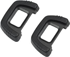 CEARI [2 Pack] DK-23 Rubber Eyecup Eyepiece Viewfinder for Nikon D7100 D7200 D300 D300s DSLR Camera + MicroFiber Clean Cloth
