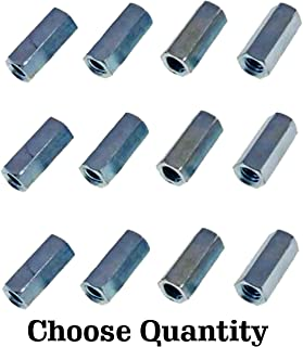 Carton Hex Coupling Nuts//Steel//Zinc // 600 Pc 3//8 AF 1//4-20 X 7//8