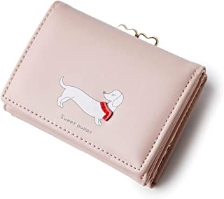 moca Cute PupPy short mini wallet Purse for Womens Girls Ladies Short Mini Small Clutch Wallet cash card coin holder purse for womens Women's Ladies Girls