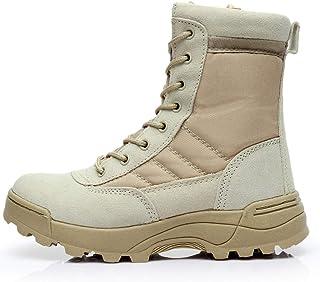 MERRYHE Bottes Militaires pour Hommes, Bottes de Combat dans Le désert, Chaussures d'escalade de Haut Sport de Plein air, ...