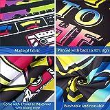 80 Jahre Party Dekoration, Extra Großer Stoff Zurück zu den 80 Jahren Hip Hop Zeichen Party Banner Foto Stand Hintergrund Wand Dekoration Kit für 80 Jahre Party Lieferungen, 72,8 x 43,3 Zoll - 3