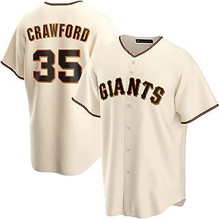 DWQ Crawford Men's Jersey, 35 Giants Jerseys de béisbol Versión de Fans Personalidad Casual Uniforme de Deportes Camisa de...