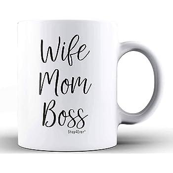Shop4ever Wife Mom Boss Ceramic Coffee Mug