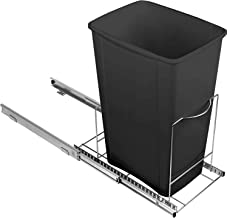 """Richards Homewares Pull Out Trash Adjustable Roll Out Sliding Garbage Bin Shelf for Kitchen Cabinets 10.6""""H x 22""""W x 19.25..."""