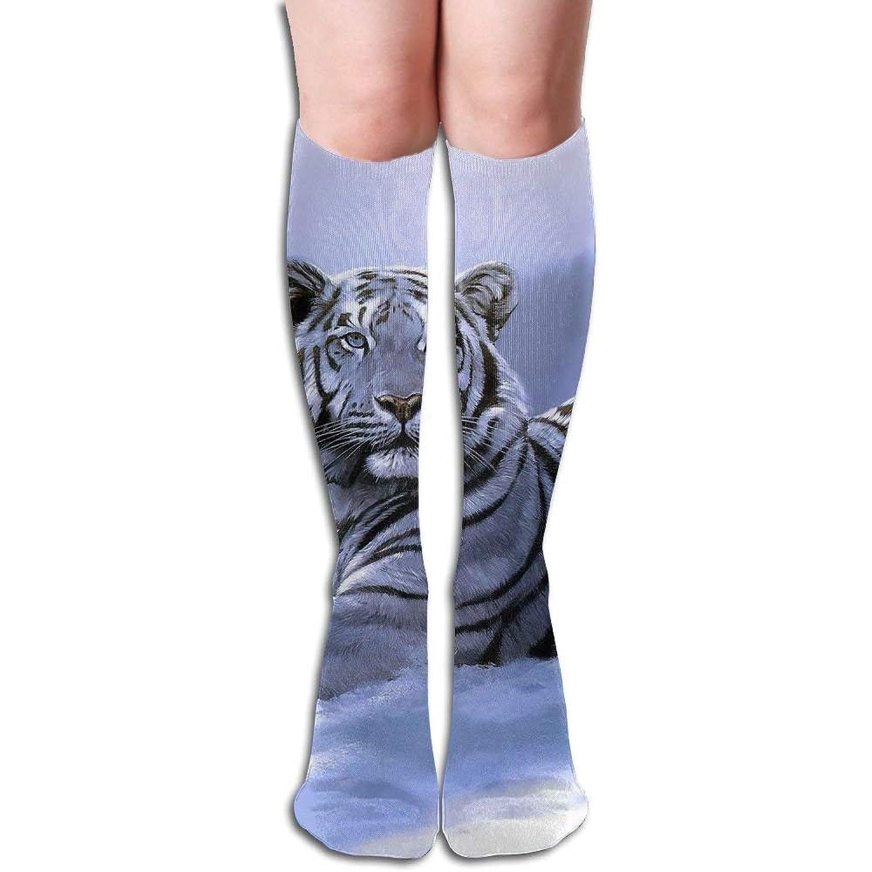 陸上競技のための管の高いトラのシベリアのKeenの靴下のブーツの圧縮の長いストッキング、旅行ソックス