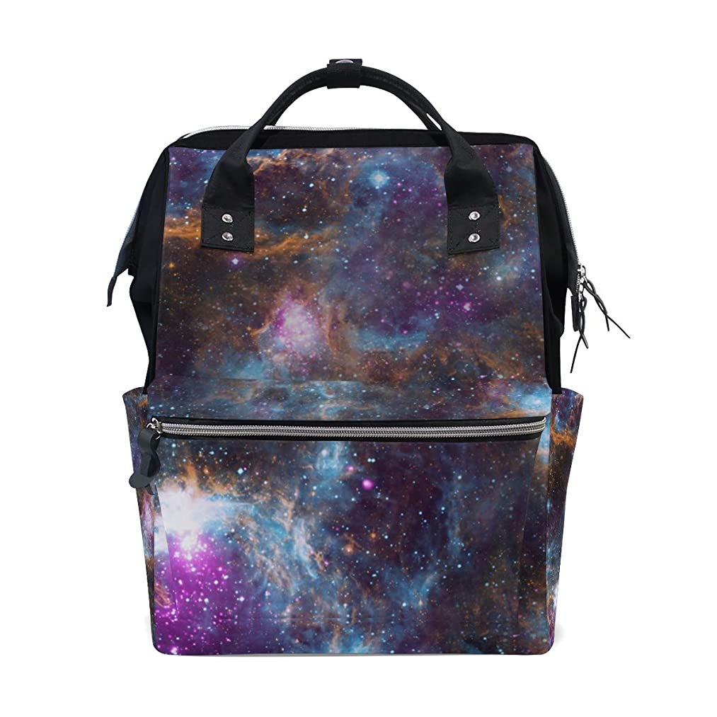 Starry Night Sky School Backpack Large Capacity Mummy Bags Laptop Handbag Casual Travel Rucksack Satchel For Women Men Adult Teen Children