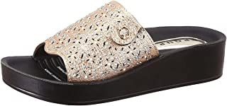 Group Perforated Strap Faux Leather Slides For Women