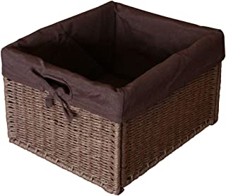 "KMH®, Práctica caja-cesto ""Jytte"" (marrón) estilo Rattan (#204049)"