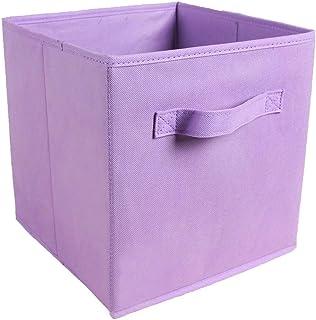 Yxsd Poubelles Pliables de Panier de Tissu, Cube de Stockage Pliant pour la Maison et Le Bureau de la pépinière -10.6inche...