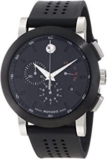 Movado Museum Series 0606545 Black Rubber Strap Watch for Men