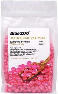 BlueZoo Depilatory Hard Wax Beans - 500 gms Bag - Pearl Pink