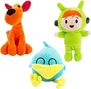 Pocoyo Plush Stuffed Animals Soft Figure Anime Collection Toy (3pcsLoula Sleepy bird Nina)