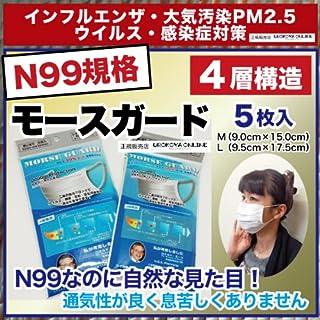 モースマスク マスク モースガード レギュラーサイズ PM2.5 N99規格相当 使い捨て 12パック60枚セット