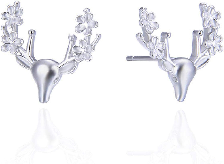 EarringsS925WhiteDeerEarrings Earrings Elegant Tempera Super beauty product Online limited product restock quality top Girls