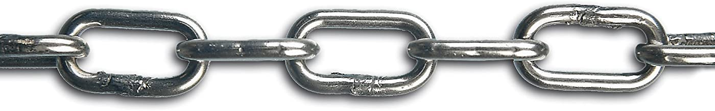 Chapuis BI6 lasketting, korte schakels, roestvrij staal, 225 kg, diameter 6 mm, 25 m, grijs