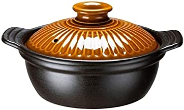 WZWHJ High Quality High Temperature Resistance Ceramic Casseroles Stew Soup Casseroles Fire Stockpot, Casseroles 3L for 1-...