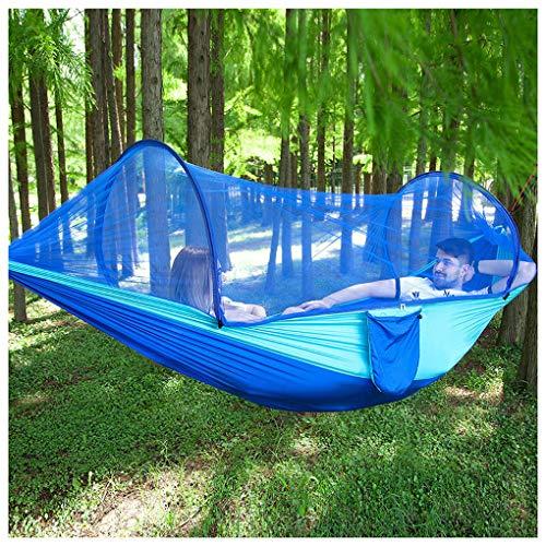 ZZZR tuinhangmat met muggennet - gemakkelijk te bewaren/schoonmaken, 660lbs 2 personen Draagbare Travel Camping Hangmat schommelstoel bed voor achtertuin, veranda