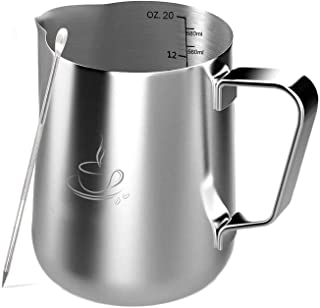 ステンレス製 ステンレススチール ミルク ピッチャー580ml (20oz)