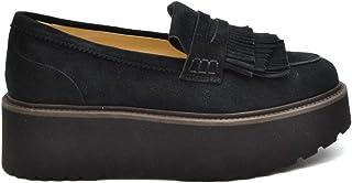 Luxury Fashion | Hogan Women MCBI38185 Black Suede Loafers | Season Outlet
